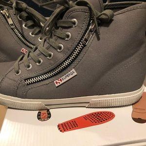 Superga grey canvas sneakers